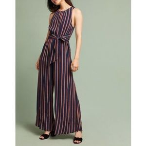 Tracy Reese Striped Wide Leg Jumpsuit
